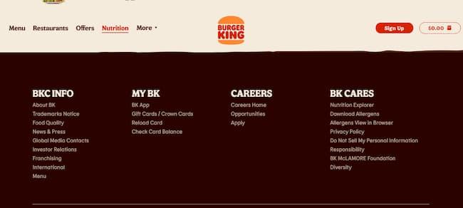 burger king allergen info