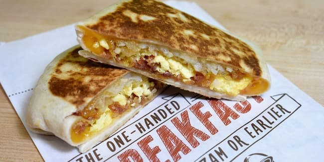 taco bell breakfast menu hours