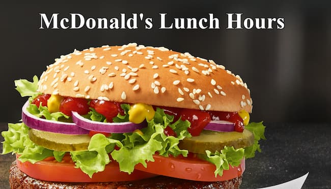mcdonalds lunch hours