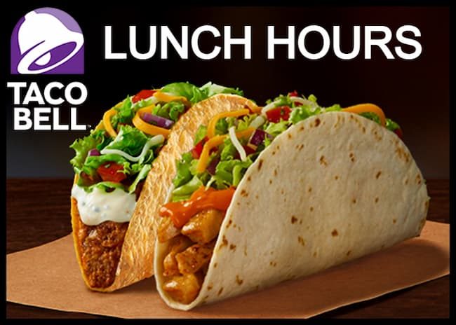 taco bell lunch hours