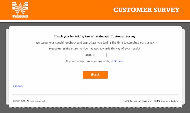 free whataburger survey