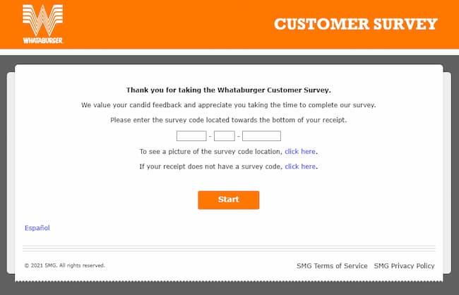 www whataburger com survey