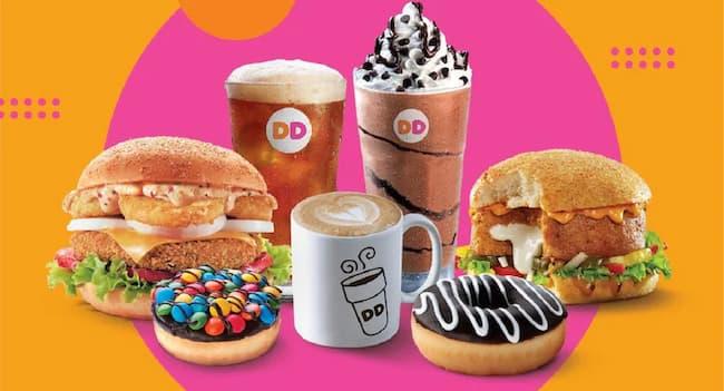 dunkin donuts breakfast menu hours