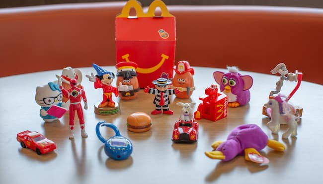 mcdonalds happy meal toys list by year