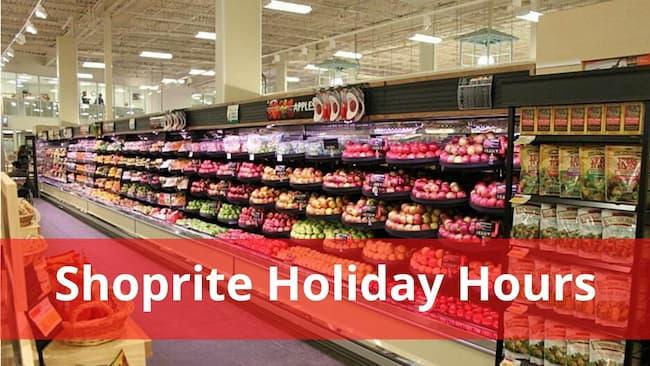shoprite holiday hours