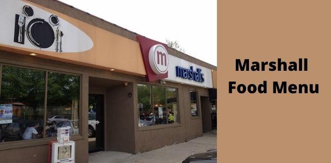 Marshall Food Menu