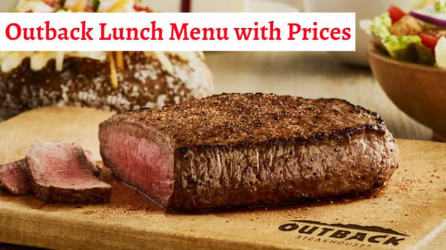 outback lunch menu